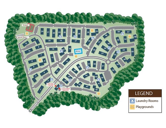 edison township durham woods apartments siteplan
